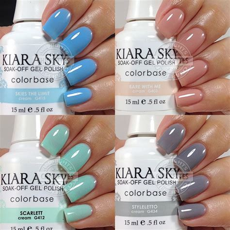 Lucky Sky Gelish Top Base 1 kiara sky gel swatches chickettes soak gel swatches nail and tutorials