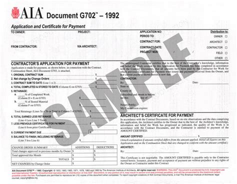 Aia Documents Forms Aia Contract Template