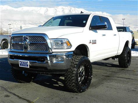 cummins truck white 2014 ram megacab cummins diesel with a 6 inch lift in