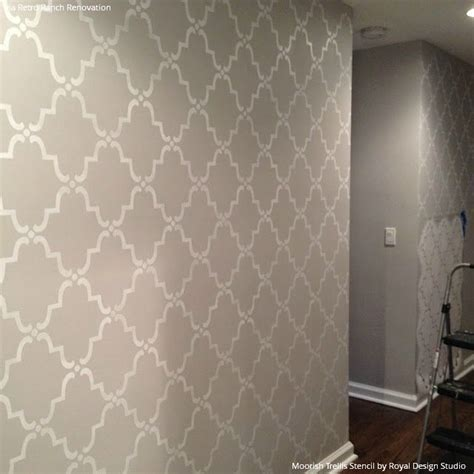 Stencil Stensil Pattern Paint Cetakan moorish trellis wall stencil moorish wall stenciling and stenciling