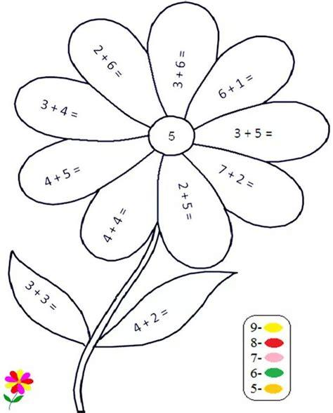 flower addition color by number « funnycrafts
