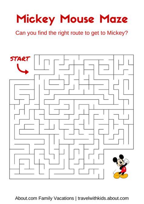printable mazes disney 14 free disney printables for kids maze mickey mouse