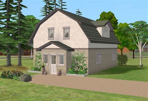 Small Barn Homes Mod The Sims Toll Barn Cottage 2 Bedrooms Fully Furnished
