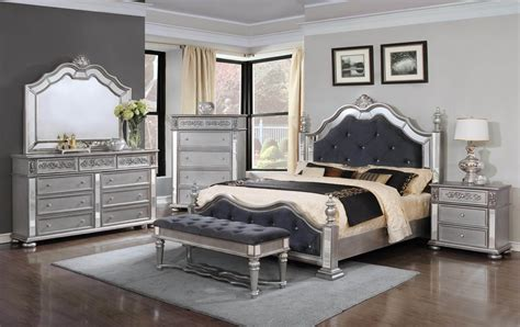 silver bedroom furniture sets elegant silver bedroom set bedroom furniture sets 17062 | GLTB878