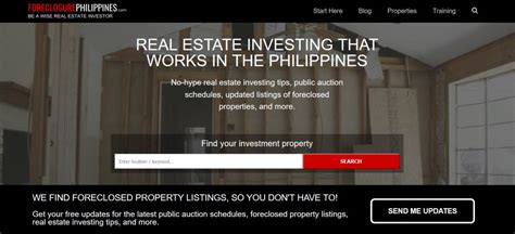 foreclosurephilippines real estate investing that
