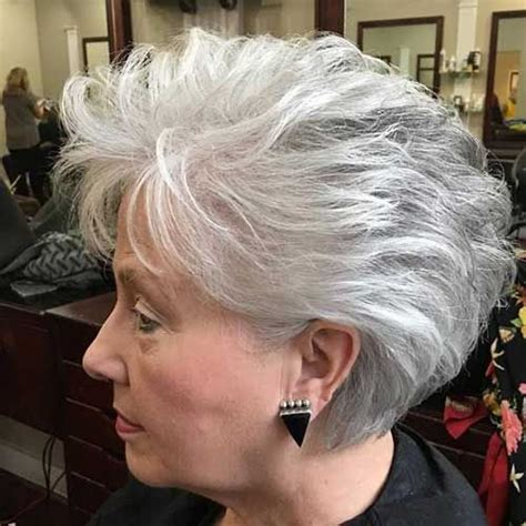 stacked cut hairstyle for older women older women stacked haircut 50yo 2 short hairstyles 2018