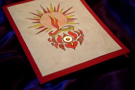 Diwali Handmade Cards - handmade easy diwali card designs for competition www