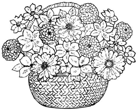 flower to color coloring pages for flowers amazing flowers