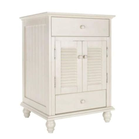Cottage Vanity Cabinet by Foremost Cottage 24 In W X 21 5 8 In D X 34 In H Vanity Cabinet Only In Antique White