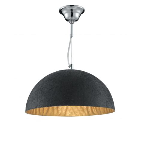 Black And Gold Pendant Light 8149go 38cm Dome Pendant Black And Gold