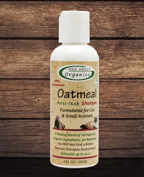 anti itch shoo for dogs organic oatmeal anti itch shoo 4oz formulated for cats and small animals