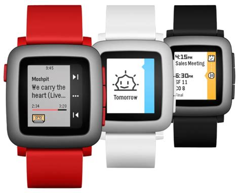 Pebble Time Steel Smartwatch White 2015 smartwatches kron4