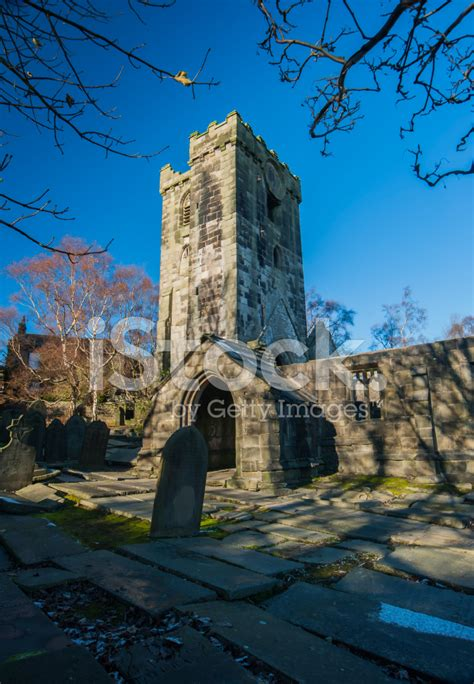 3 the old pattern works hebden bridge church of st thomas a becket heptonstall stock photos
