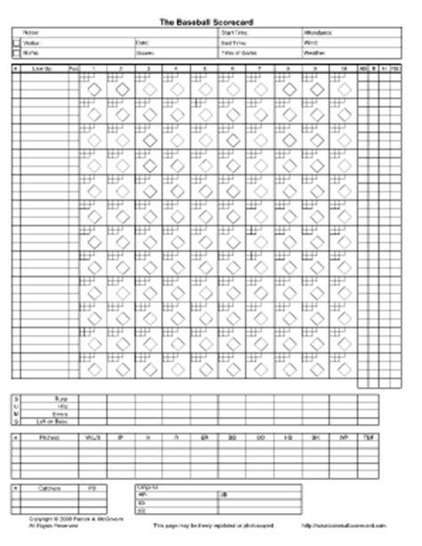 Softball Scorebook Printable Free