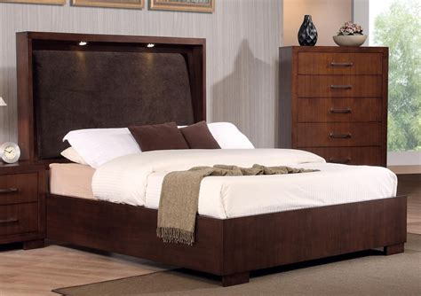 King Bed And Frame Modern Minimalist California King Platform Bed Frame With Lighting On The Headboard Plus