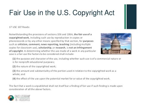 copyright act section 106 what is fair use
