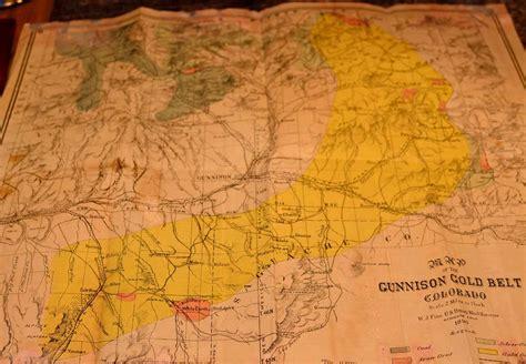 map of colorado gold gunnison gunnison county colorado books western