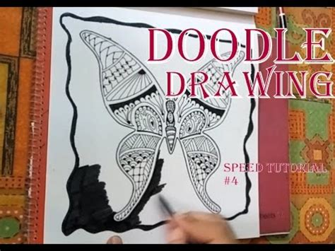 how to make doodle picture how to draw zentangle doodle butterfly for beginners
