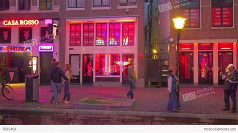 netherlands light district light district amsterdam stock footage