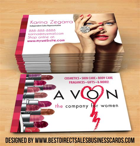 Avon Business Cards Business Card Design Inspiration Avon Business Card Template