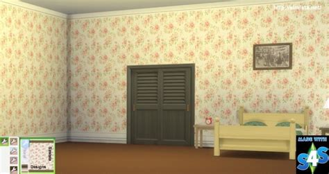 Floral Designs wallpaper at Simista » Sims 4 Updates