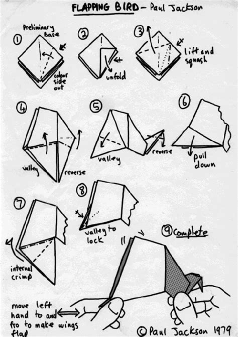 How To Make A Paper Flapping Bird - easy origami flapping bird image search results