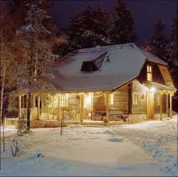 beautiful snowy log cabin log cabins