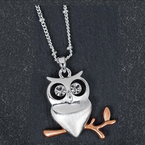owl pendant silver plated south gallery