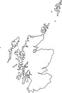 Scottish Outline by Silhouette Schottland Karte Silhouetten Und Kontur Vektoren