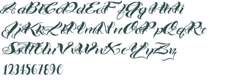 tattoo fonts preview vtc bad one font free truetype