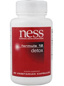 Enzymes Capsules Detox by Detox 12 90 Capsules Ness Enzymes