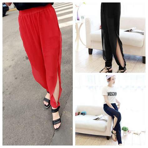 Celana Joder Wanita Terlaris Termurah termurah 2016 wanita kedatangan musim panas baru celana kasual busana sifon longgar kaki