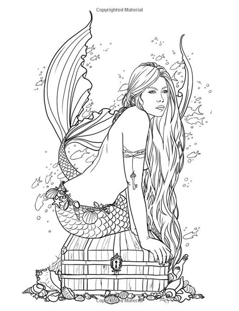 coloring pages of mermaids and fairies image result for selina fenech mermaid on treasure box