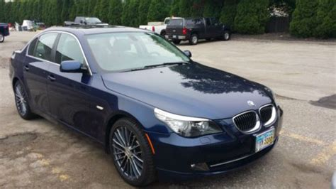 old car manuals online 2008 bmw 5 series electronic valve timing sell used 2008 bmw 535i manual blue with grey interior 47 000 miles in cleveland ohio united