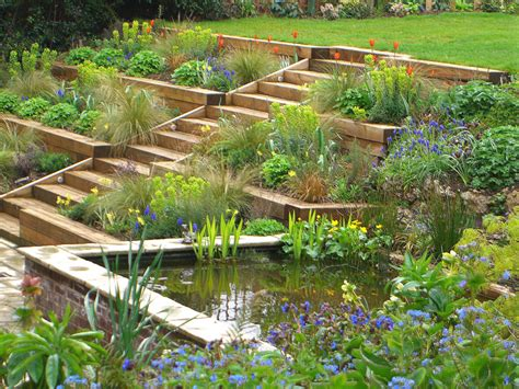 Terraced Garden Radlett Julian Tatlock Garden Design Garden Terracing Ideas