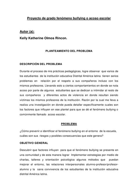 Thesis De Bullying | tesis final kelly olmos