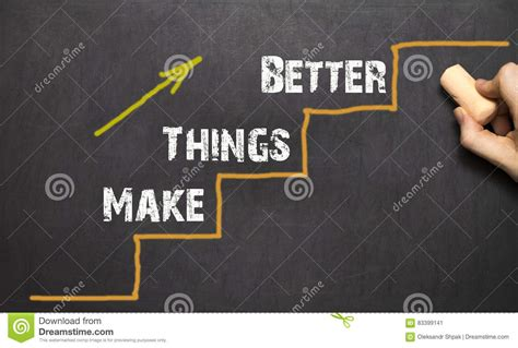 how to make things better make things better royalty free illustration