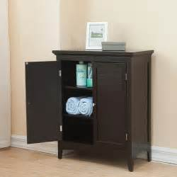 Bathroom Storage Floor Cabinet Bayfield Espresso Door Floor Cabinet Contemporary Interior Doors By Overstock