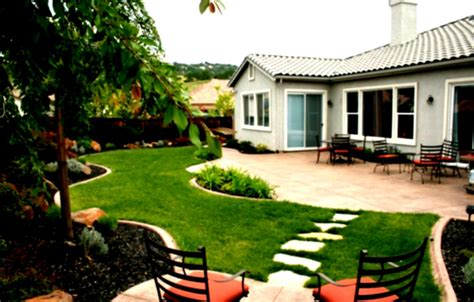home and backyard beautiful home landscaping with wide green grass and cool