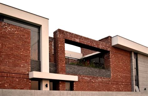 red bricks house design modern house with red bricks tiles gutka elevation 3d