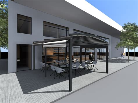 Retractable Shade Architectonic Structure Retractable Shade 6