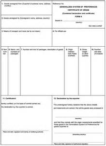 certificate of origin template usa certificate of origin form selimtd