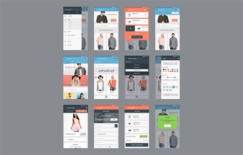 ecommerce app ui free psd download download psd red web ui kit free psd at downloadfreepsd com