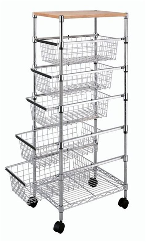 tp 3483 1 6 tier wire rack drawer storage basket from