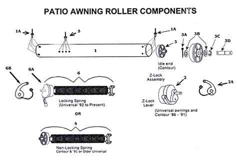 zip patio awning roller and with all parts