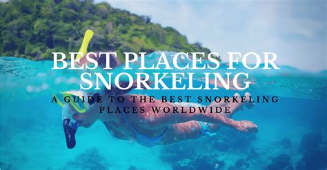 best places in the world for snorkeling top 5 places for snorkeling worldwide dive in