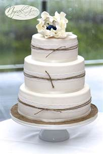 3 tier wedding cake images lace twine 3 tier wedding cake cakecentral