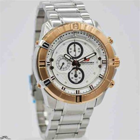Chronoforce Black White Original jual jam tangan pria chronoforce 5251ms silver rosegold