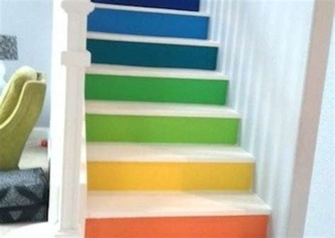 painted stair risers painted stairs  home design
