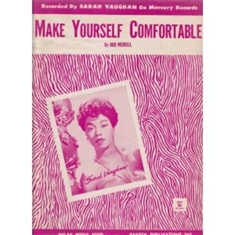 make yourself comfortable from the vaults sarah vaughan make yourself comfortable